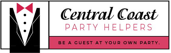 "Central Coast Party Helpers | ""Be A Guest At Your Own Party"" logo"