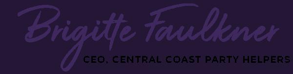 Brigitte Faulkner Signature, CEO of Central Coast Party Helpers