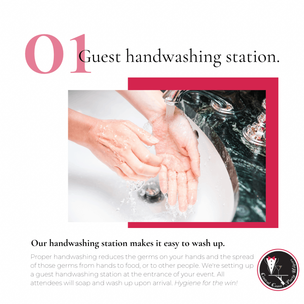Guest handwashing station